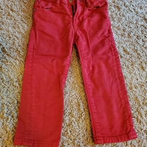 Boys red Gap jeans